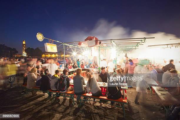 People at food stalls, Jemma El Fna