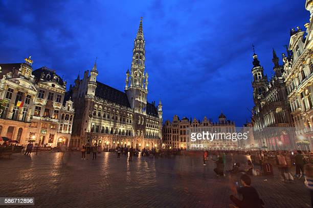 People at Grand Place