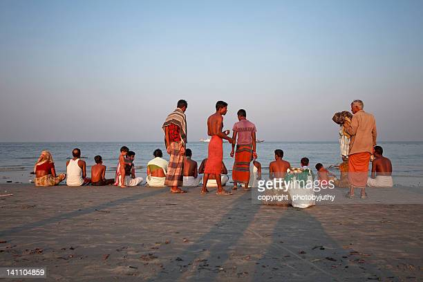 people at hindu festival - khulna stock photos and pictures