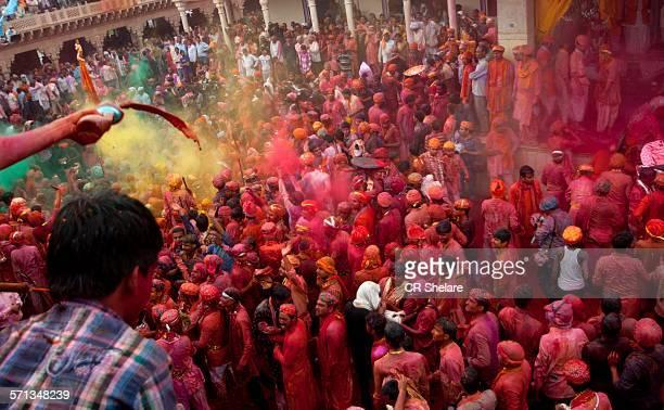 People at Holi festival