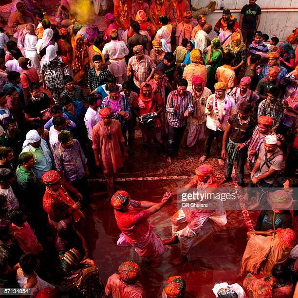 people at holi festival - uttar pradesh stock pictures, royalty-free photos & images