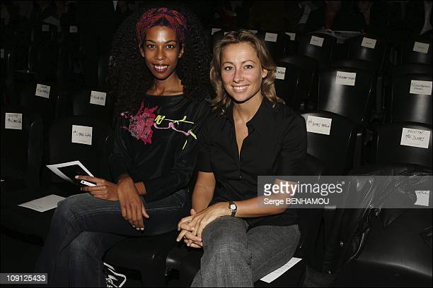 People At JeanLouis Scherrer Spring Summer 2005 Ready To Wear Fashion Show In Paris On October 10 2004 In Paris France Elisabeth Tchoungui And...