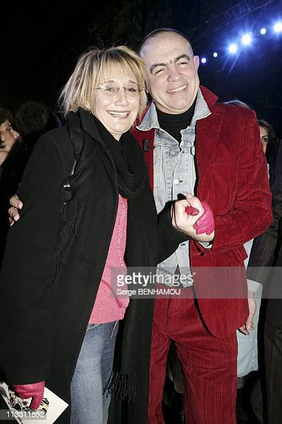 People At Lacroix Fashion Show Haute Couture Spring Summer 2005 On January 25Th 2005 In Paris France Marie Anne Chazel And Christian Lacroix