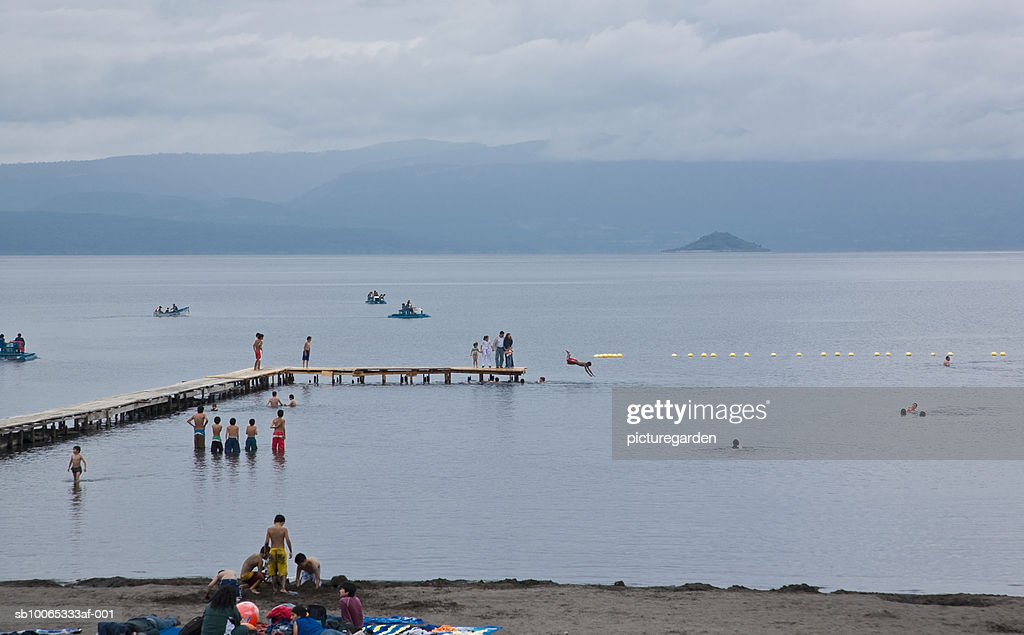 People at Lago Villarica : Foto stock