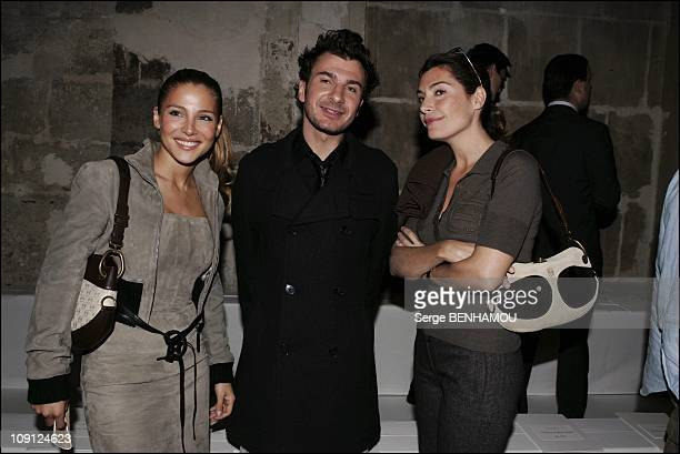 People At Loewe Spring Summer 2005 Ready To Wear Fashion Show In Paris On October 6 2004 In Paris France Mickael Youn And His Wife Elsa Pataki And...