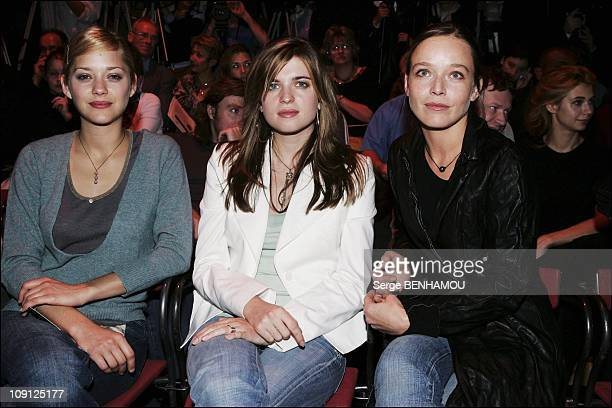 People At Lolita Lempicka Spring Summer 2005 Ready To Wear Fashion Show In Paris On October 8 2004 In Paris France Marion Cotillard Cecile Cassel...