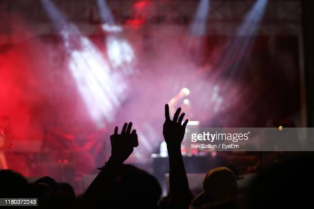people at music concert - popular music concert stock pictures, royalty-free photos & images