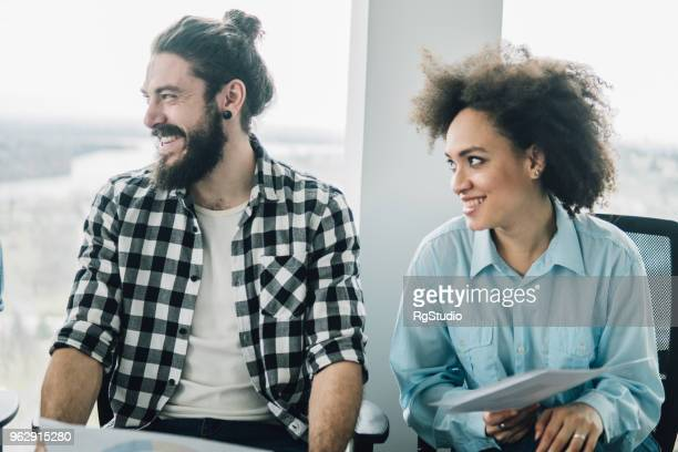 people at office - man bun stock pictures, royalty-free photos & images