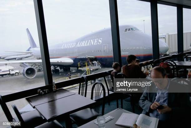 People at San Francisco International Airport Restaurant