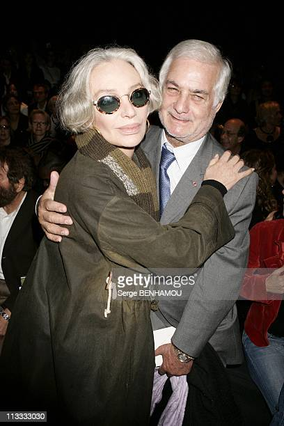 People At Sonia Rykiel Ready To Wear SpringSummer 2006 Fashion Show On October 7Th 2005 In Paris France Here Marie Laforet And Jean Claude Brialy