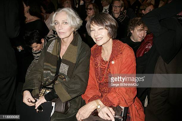 People At Sonia Rykiel Ready To Wear SpringSummer 2006 Fashion Show On October 7Th 2005 In Paris France Here Marie Laforet And Macha Meril