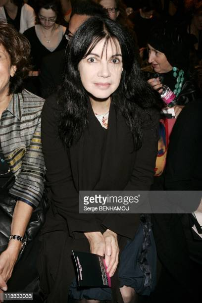 People At Sonia Rykiel Ready To Wear SpringSummer 2006 Fashion Show On October 7Th 2005 In Paris France Here Carole Laure