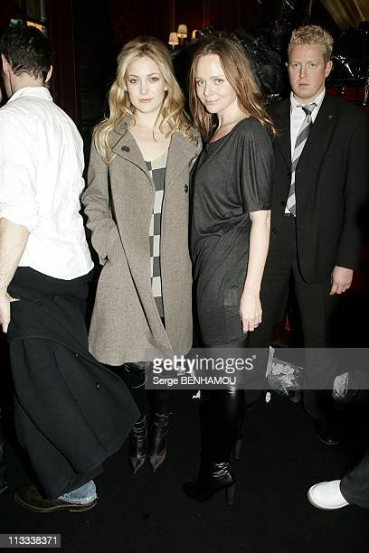 People At Stella Mac Cartney Ready To Wear FallWinter 20062007 Fashion Show On March 2Nd 2006 In Paris France Here Kate Hudson And Stella Mac Cartney