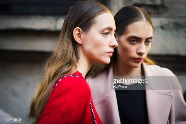People at Street Style At Ermanno Scervino Fashion Show: February 22 - Milan Fashion Week Fall/Winter 2020-2021 22 February 2020, Milan, Italy