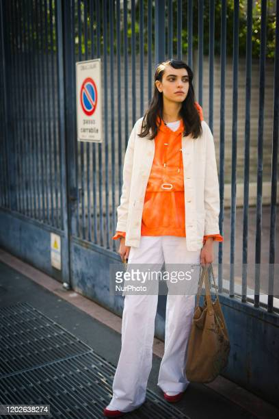 People at Street Style At MSGM Fashion Show: February 22 - Milan Fashion Week Fall/Winter 2020-2021 22 February 2020, Milan, Italy