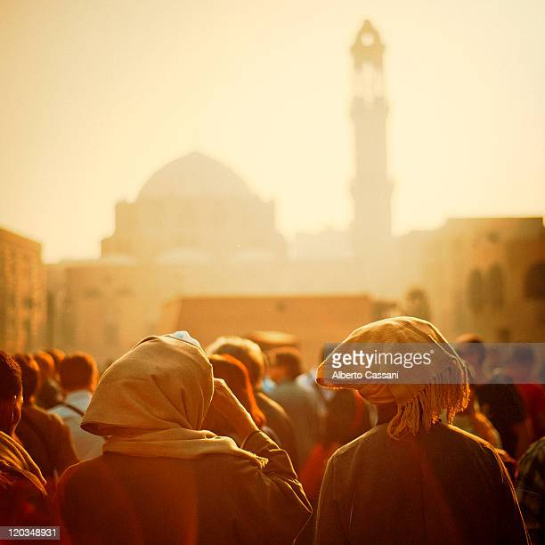 people at sunset - egypt stock pictures, royalty-free photos & images