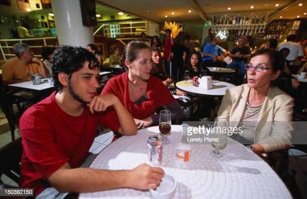 People at table of Allegro Bistro in Copacabana.