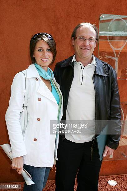 People At The 2006 French Open At Roland Garros - On June 3Rd, 2006 - In Paris, France - Here, Laurent Fignon And His Wife Valerie