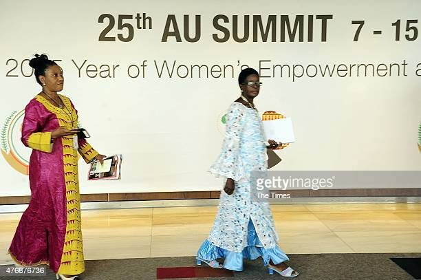 People at the 25th African Union Summit on June 10 2015 at the Sandton Convention Centre in Johannesburg South Africa Make it Happen Through the...
