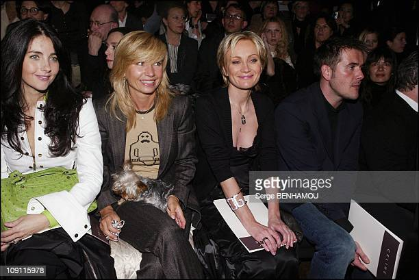 People At The Celine'S Fashion Show Fall-Winter 2004-2005 On March 4, 2004 In Paris, France. Christiana Reali Natty Belmondo Patricia Kaas And A...