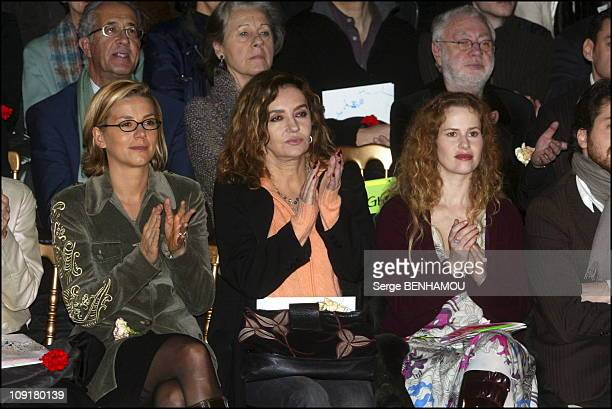 People At The Christian Lacroix Haute Couture Fashion Show SpringSummer 2004 On January 20 2004 In Paris France Laurence Ferrari Caroline Cellier And...