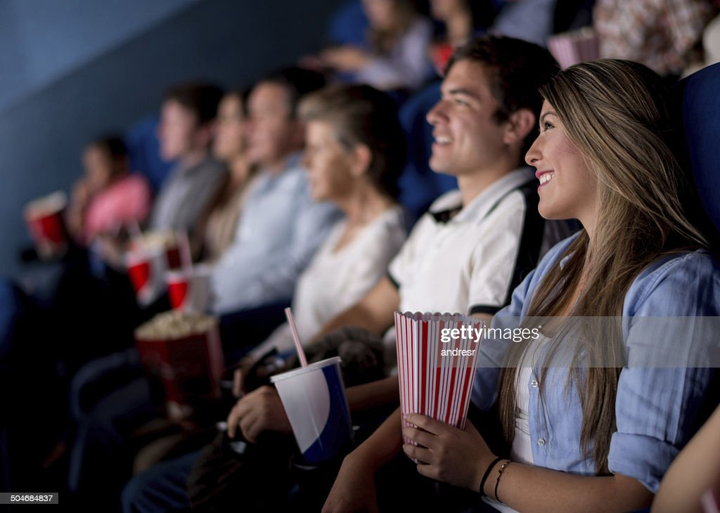 People at the cinema : Stock Photo