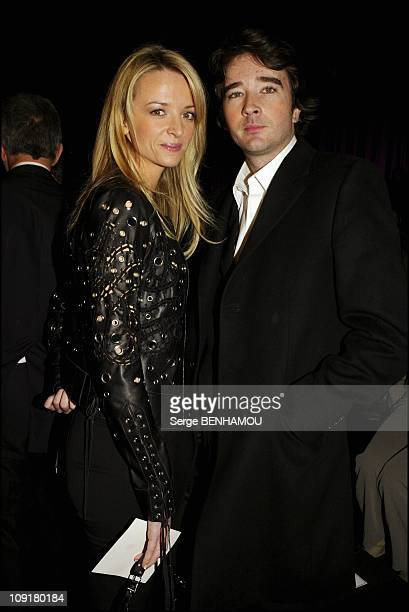 People At The Dior Fashion Show SpringSummer 2004 On January 19 2004 In Paris France Delphine And Antoine Arnault