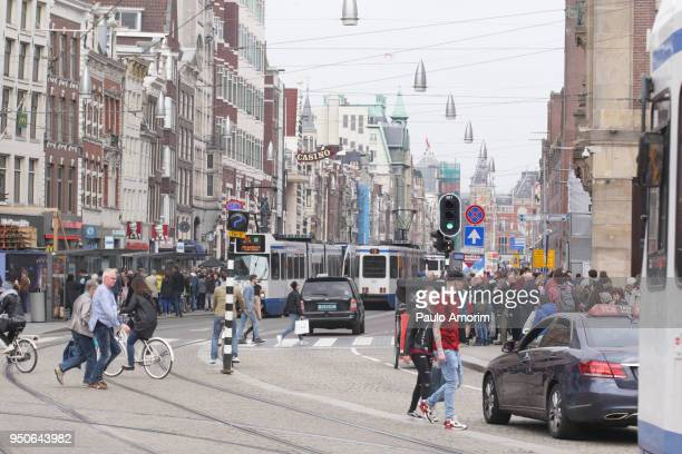 People at the downtown Amsterdam,Netherlands
