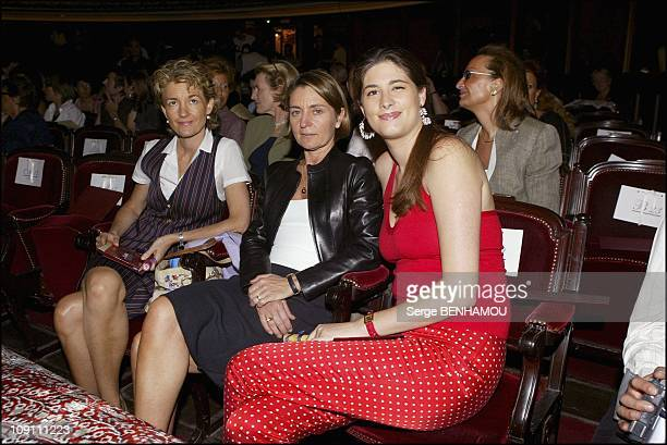 People At The Franck Sorbier Fashion Show Haute Couture FallWinter 20032004 On July 9 2003 In Paris France Isabelle Juppe Corinne Perben And...