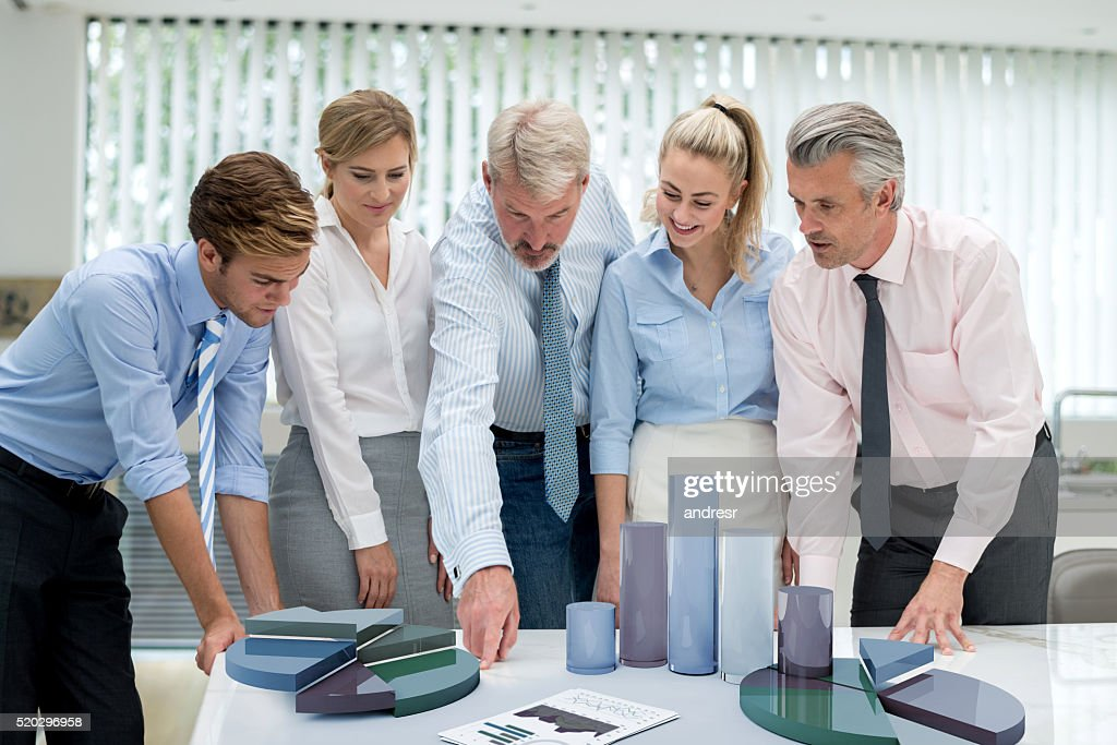 People at the office developing a business strategy : Stock Photo