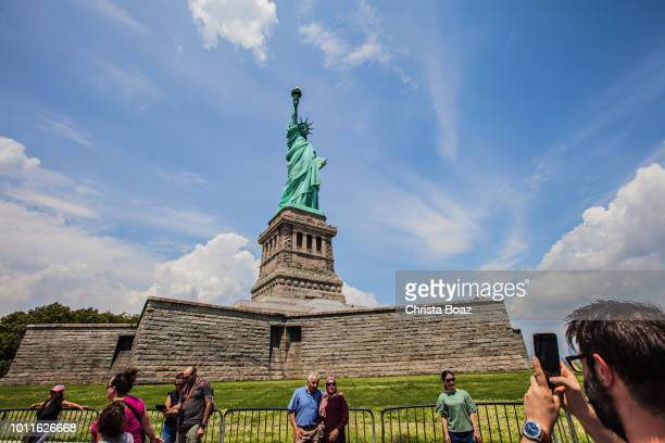 People at the Statue of Liberty