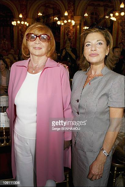 People At The Torrente Fashion Show Haute Couture Fall-Winter 2003-2004 On July 7, 2003 In Paris, France. Mme Torrente And Nicole Calfan