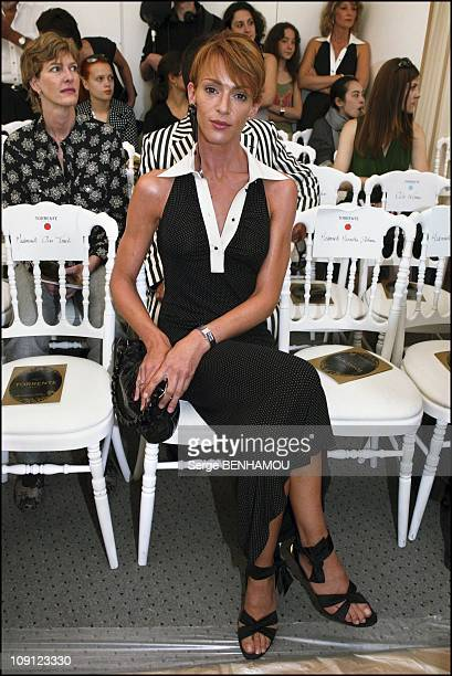 People At The Torrente Haute Couture Fashion Show Fall Winter 20042005 On July 6 2004 In Paris France Actress Maruschka Detmers