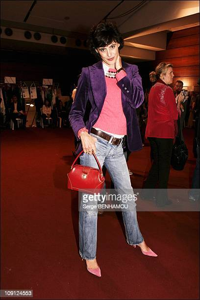 People At The Ungaro Spring Summer 2005 Ready To Wear Fashion Show On October 6 2004 In Paris France Ines De La Fressange