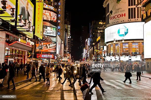 Menschen am Times Square, New York City