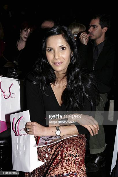 People At Ungaro FallWinter 20052006 Ready To Wear Fashion Show On March 2Nd 2005 In Paris France Salman Rushdie'S Wife Padma Lakshmi