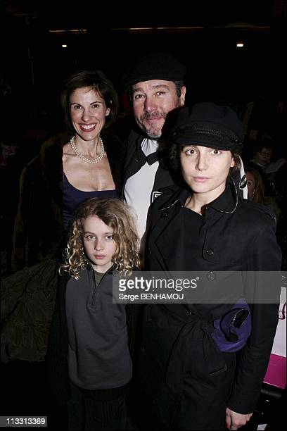 People At Ungaro Fall-Winter 2005-2006 Ready To Wear Fashion Show On March 2Nd, 2005 In Paris, France - Philippe Starck With Wife Nori And Children...