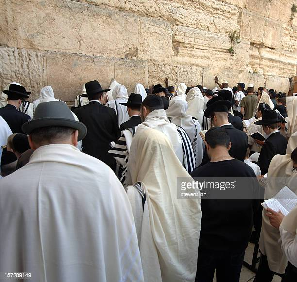 People at Wailing Wall of Jerusalem