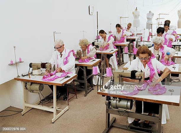 People at work in sewing workshop