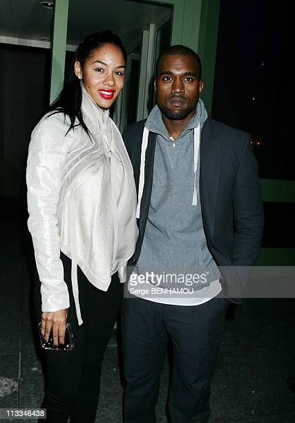 People At Ysl Ready To Wear SpringSummer 2007 Fashion Show On October 5Th 2006 In Paris France Here Kanye West And His Wife