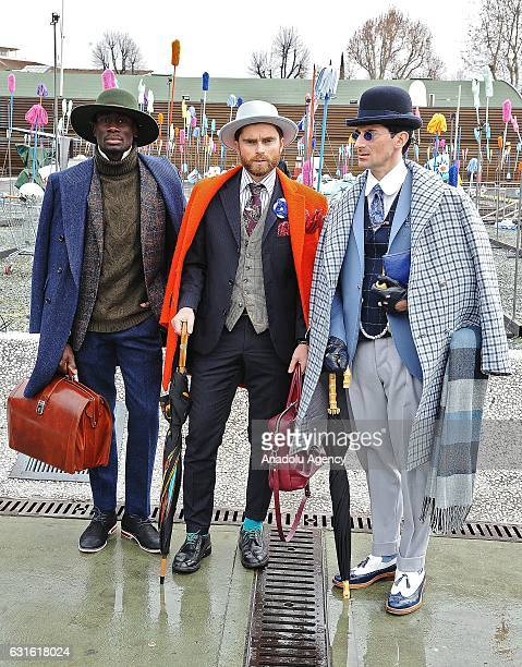 People attend 91st Pitti Immagine Uomo which is one of the worlds most important platforms for mens clothing and accessory collections is held in...