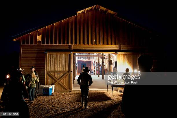 People attend a barn dance at the Apache Spirit Ranch on Saturday May 26 2012 in Tombstone AZ The town was made famous by the Gunfight at the OK...