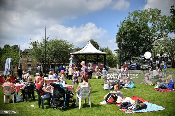 People attend a Great Get Together event in memory of murdered MP Jo Cox on June 17 2017 in Heckmondwike England More than 100000 events are expected...