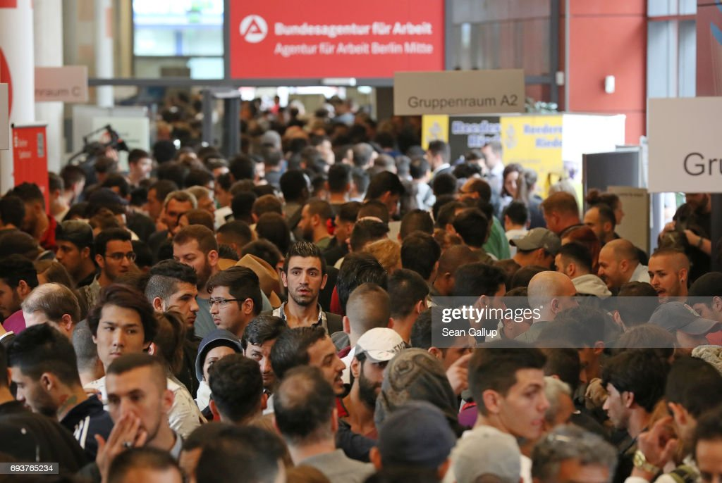 Berlin Employment Agency Holds Refugees Jobs Fair : News Photo