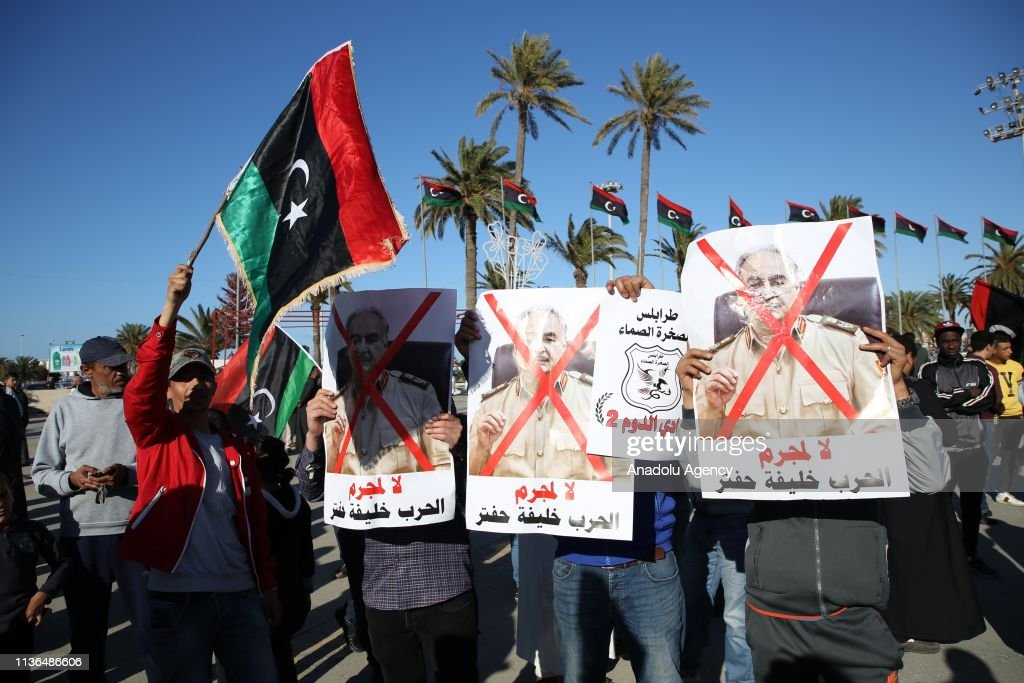 Protest in Tripoli : News Photo