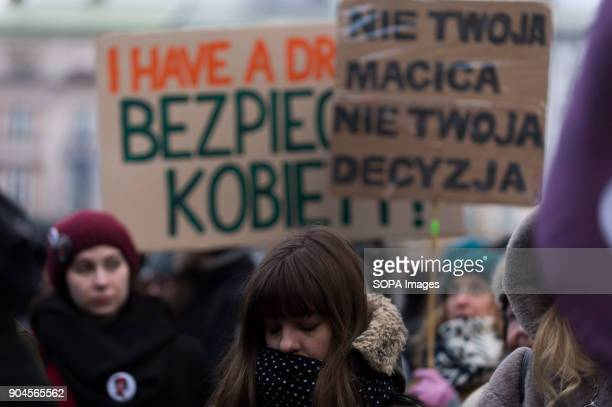People attend a protest against the rejected civic proposal of law to liberalize abortion and promote sexual education at the Main Square On...