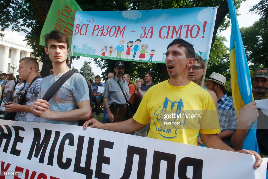 Anti LGBT Protest In Kiev