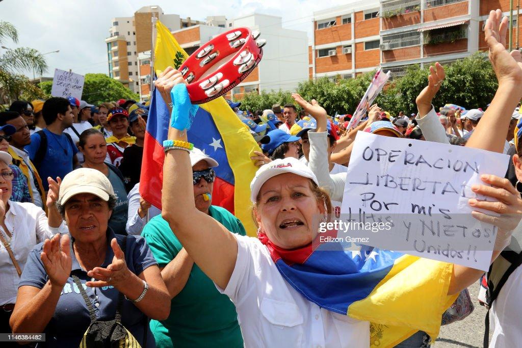 VEN: Juan Guaido Rally in Barquisimeto