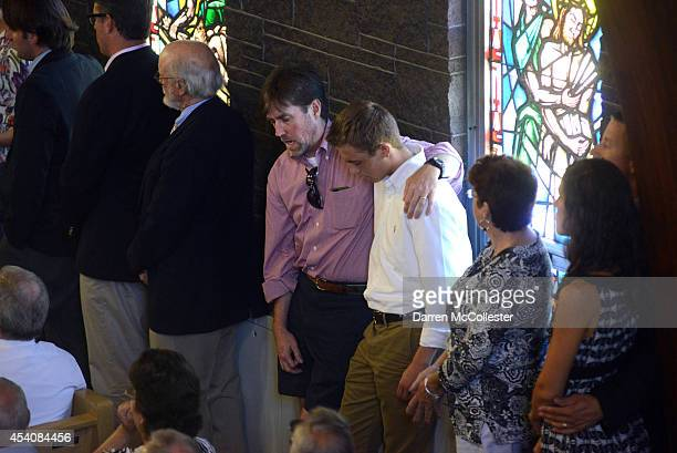 People attend a special mass in remembrance of journalist James Foley at Our Lady of the Rosary Church for August 24 2014 in Rochester New Hampshire...