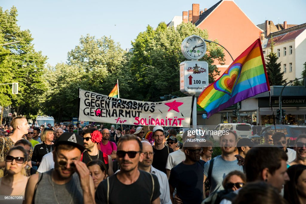 Protest Against Homophobia In Berlin